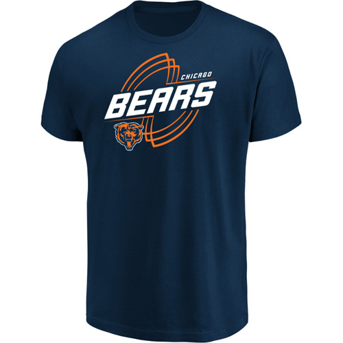Men's Majestic Navy Chicago Bears Pigskin Classic T-Shirt