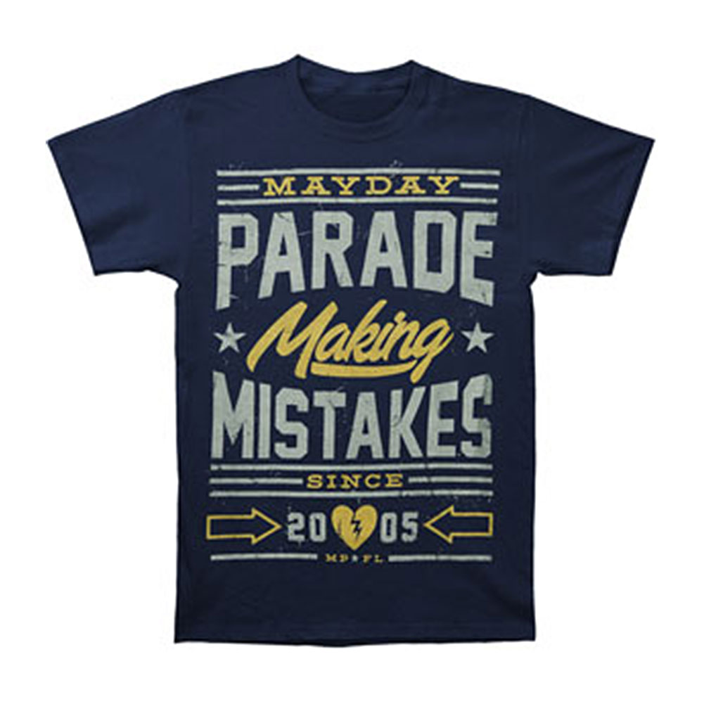 Mayday Parade Men's  Mistakes T-shirt Blue