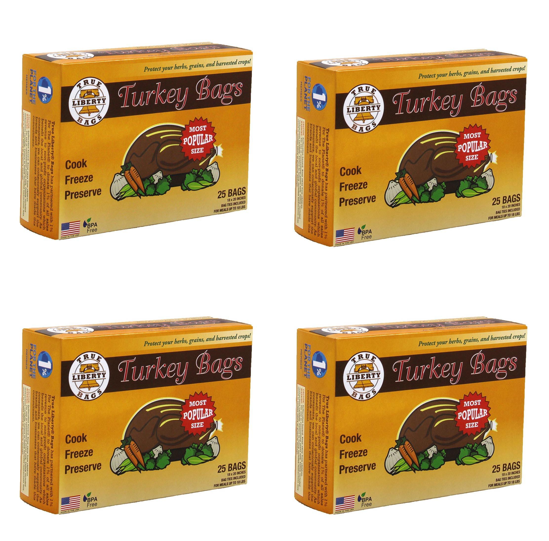 True Liberty Home & Garden Freezer Preservation Turkey Bags, 4 25-Packs | TLBT25