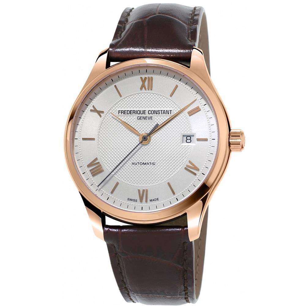 Frederique Constant Men's Classics  40mm Leather Band Ros...