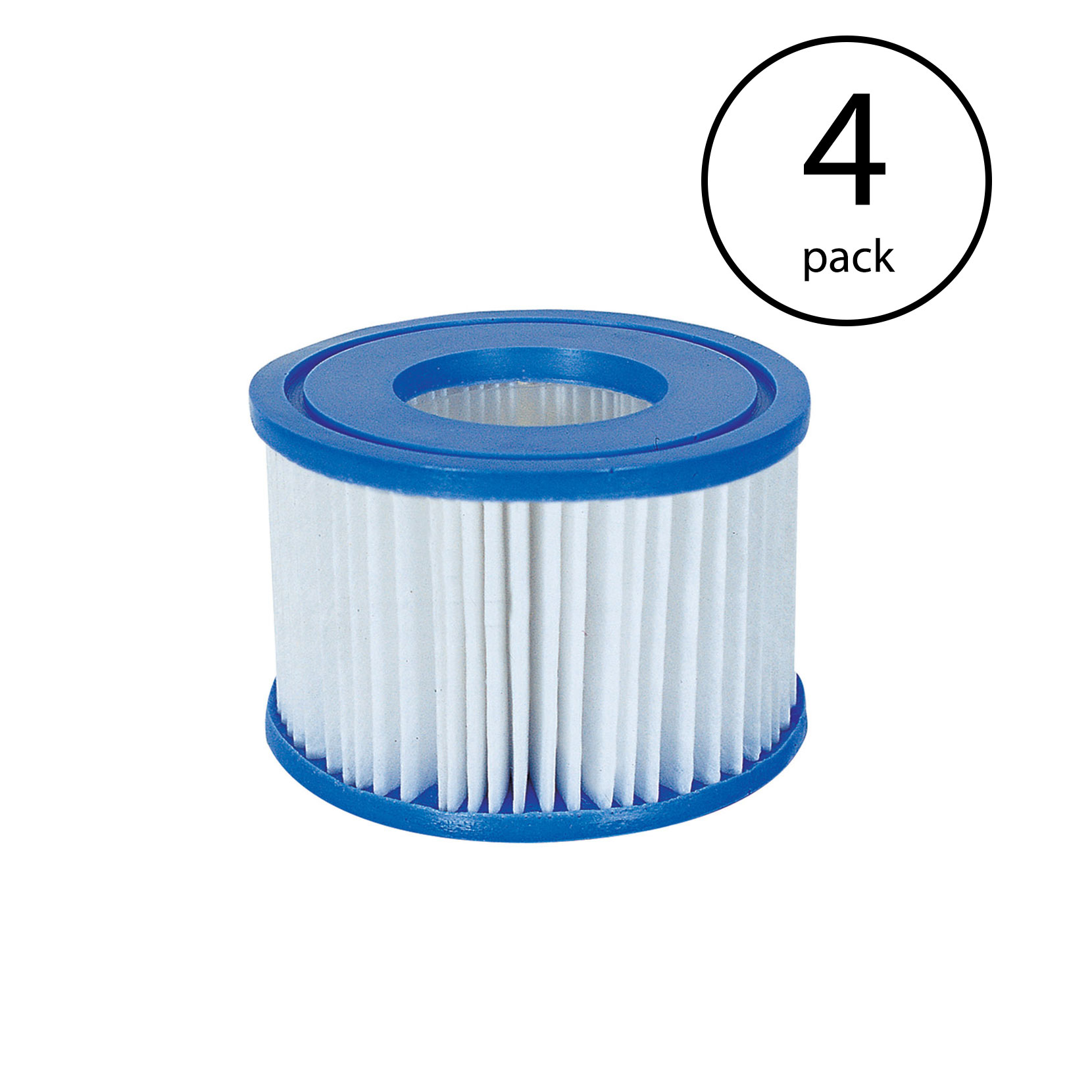 Bestway Spa Filter Pump Replacement Cartridge Type VI for SaluSpa (4 Pack)