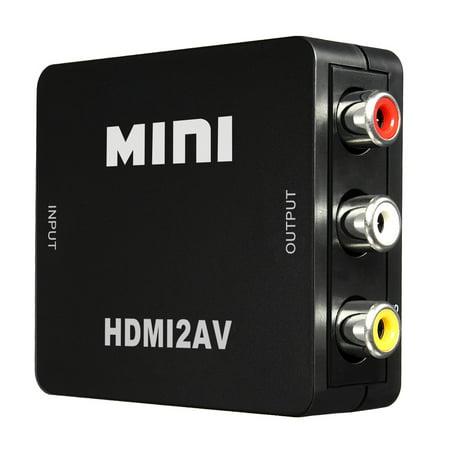 ELEGIANT Mini Flexible to RCA Audio Video AV CVBS HD TV Converter USB 720p/1080P,Support NTSC and PAL two TV format