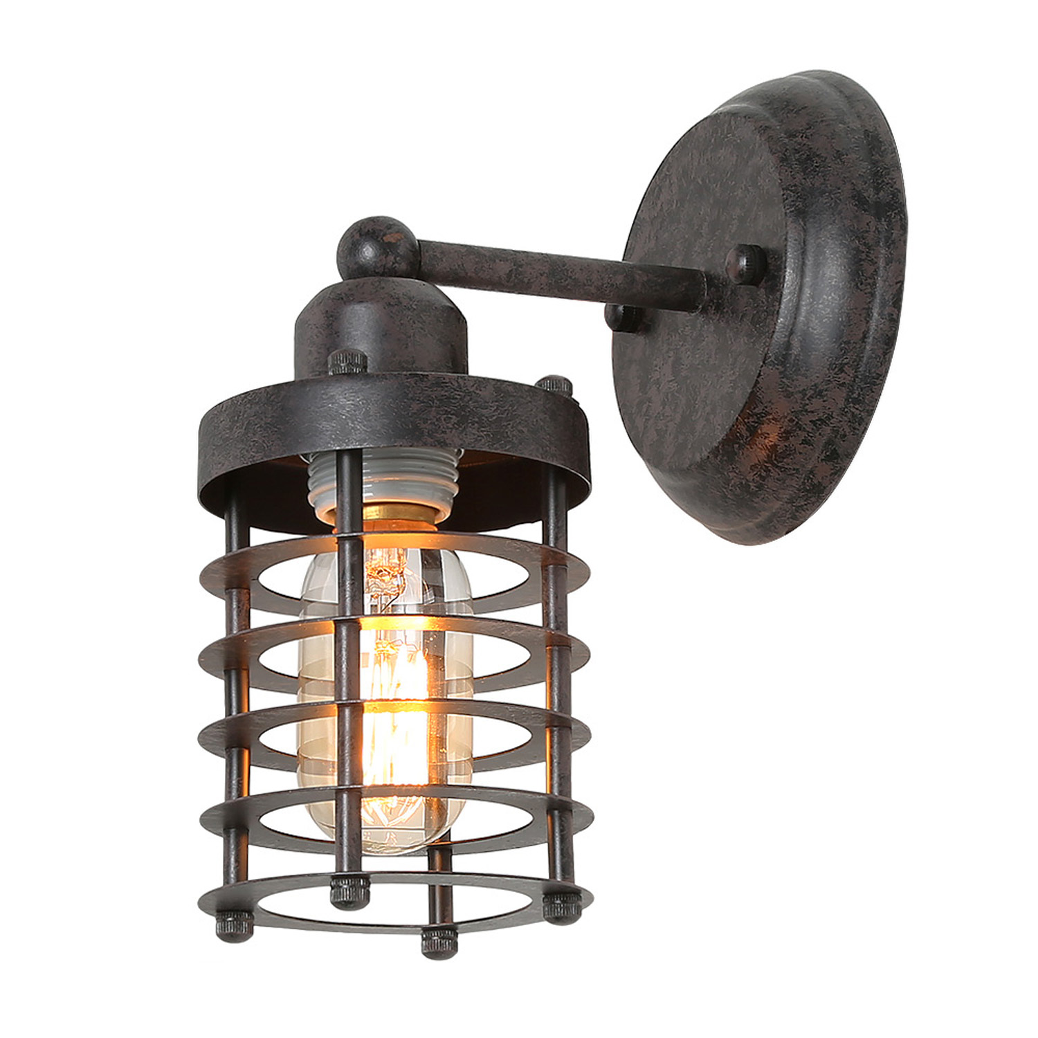 Lnc Swing Arm Wall Lamp For Bedroom Industial Vintage Rustic Wall Mount Lamp Wall Lamp Industrial Mini Cage Sconce Indoor Wall Light Fixture Walmart Com Walmart Com