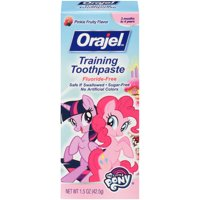 Orajel My Little Pony Fluoride-Free Training Toothpaste, Pinkie Fruity, 1.5 oz.