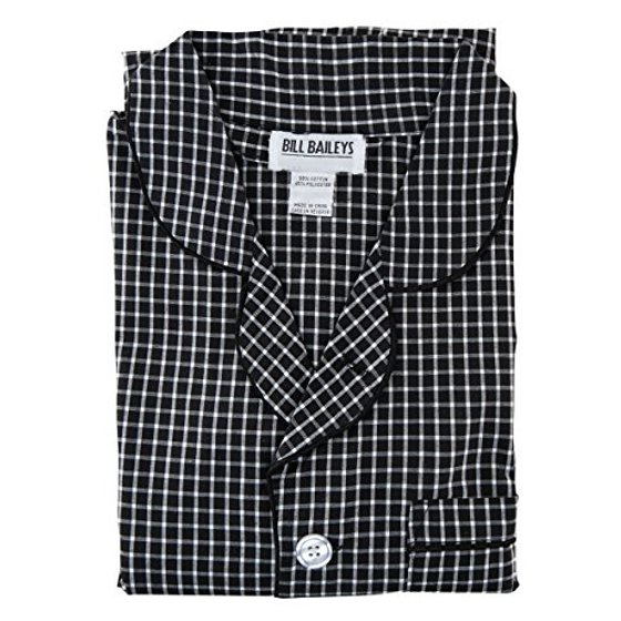 BILL BAILEYS - Bill Baileys Sleepwear Mens Broadcloth Woven Nightshirt Sleep  Shirt (Medium 9e563122d