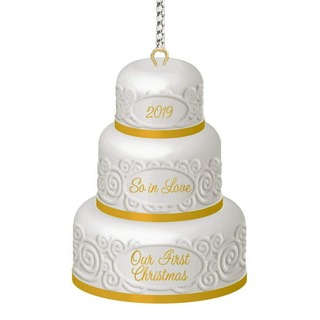 Carlton 1st Christmas Together Wedding Cake Heirloom Dated 2019 Ornament ()