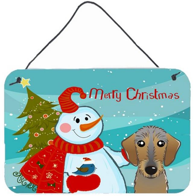 Carolines Treasures BB1853DS812 Snowman With Wirehaired Dachshund Wall and Door Hanging Prints - image 1 de 1