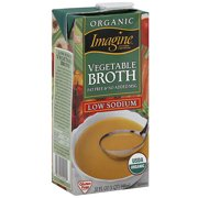 Imagine Foods Fat Free Vegetable Broth, 32 oz (Pack of 12)