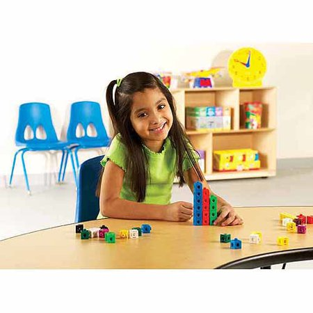 Learning Resources Multicolored Snap Cubes, Set of (Snap Cubes)