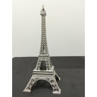 Craft and Party, Metal Eiffel Tower Centerpiece Decoration (Small, Silver)