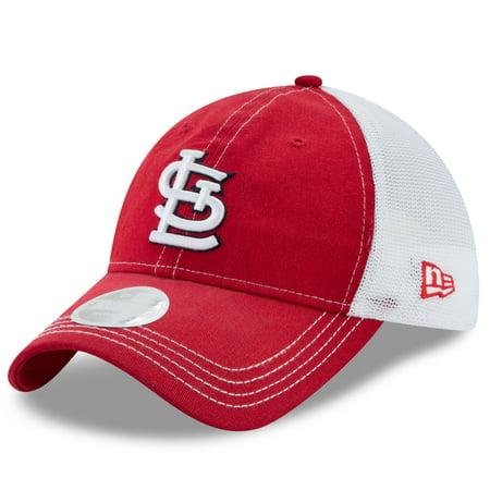 b6d16c3a1cb Women s New Era Red White St. Louis Cardinals Spirited 9TWENTY Adjustable  Hat - OSFA