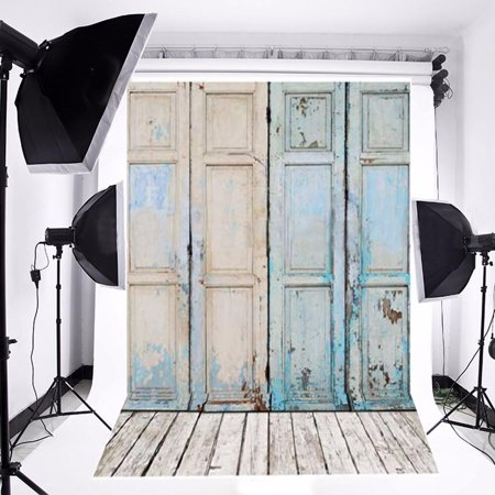 NK HOME Studio Photo Video Photography Backdrops 3x5ft Rustic Barn Door Printed Vinyl Fabric Background Screen Props - Cheap Photography Props For Sale