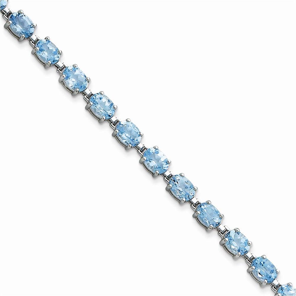 Sterling Silver Blue Topaz Bracelet by