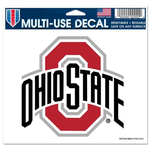 Ohio State Buckeyes Official NCAA 4 inch x 6 inch  Car Window Cling Decal by Wincraft