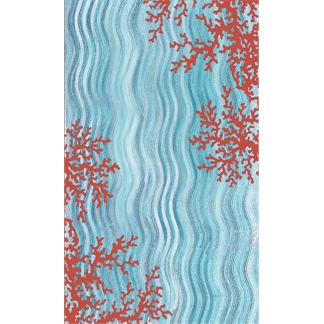 Liora Manne VGH80325503 Visions Iv 3255-03 Coral Reef Water 8 x 10 Ft. Rugs - image 1 de 1