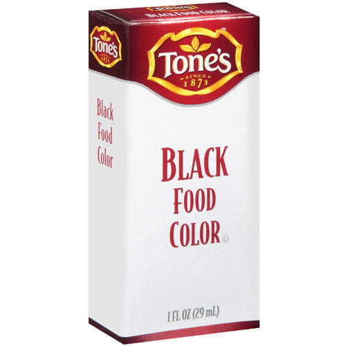 Tone's Black Food Color, 1 fl oz