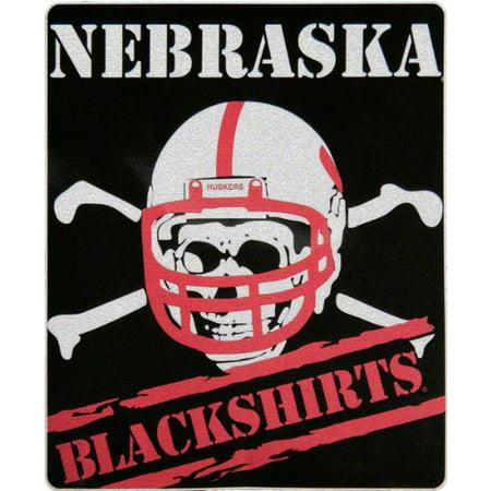 Nebraska Cornhuskers NCAA Blackshirt Design Sherpa 50x60 Fleece Plush Throw