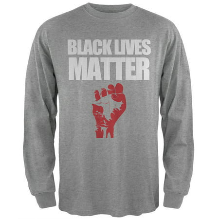 Black Lives Matter Heather Grey Adult Long Sleeve