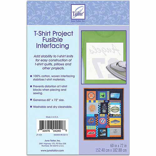 "June Tailor T-Shirt Project Fusible Interfacing, 60"" x 72"", White"