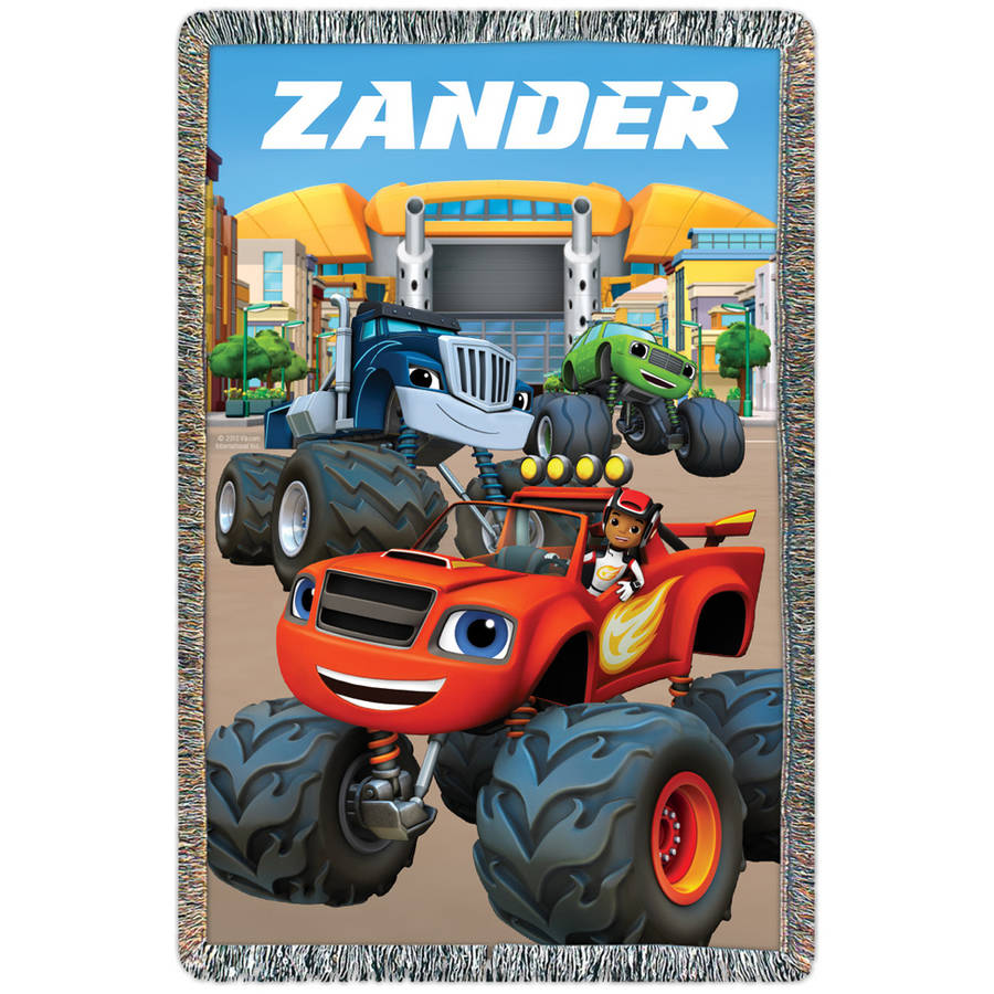 Personalized Blaze And The Monster Machines Axle City Throw