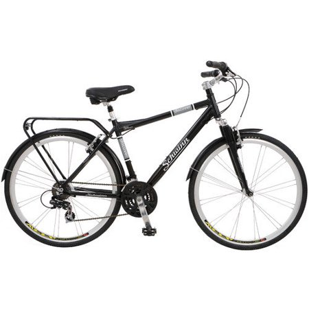 Schwinn Discover 700c Hybrid Bicycle with Full Fenders and Rear Cargo Rack - Bicycle Hybrid