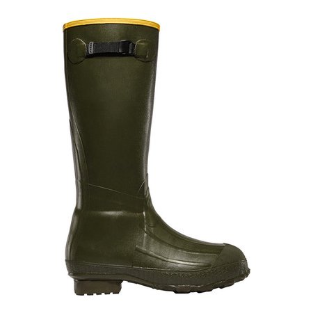 b0fc713e3 LaCrosse Footwear - LaCrosse Burly Waterproof Green Rubber Boots With  Removable EVA Footbed For All-Terrain - Size 8 - Walmart.com
