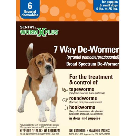 De-wormer 7 Way Small Dog 6ct - Halloween Hot Dogs Worm