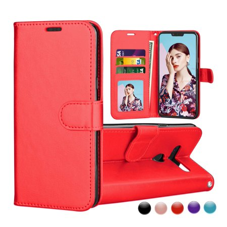 LG G8 Case, 2019 LG G8 ThinQ Wallet Cover, LG G8 PU Leather Case, Njjex [Wrist Strap] Flip Folio [Kickstand ] PU leather Wallet Case 3 ID&Credit Card Pockets for LG G8 6.1