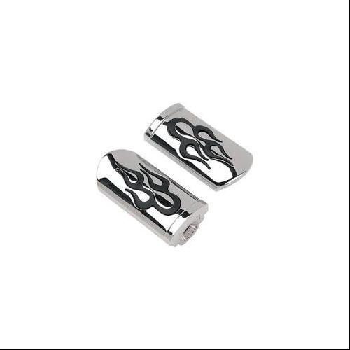 Drag Specialties Designer Footpegs Flame Fits 10-14 Harley-Davidson Electra Glide Ultra Limited FLHTK