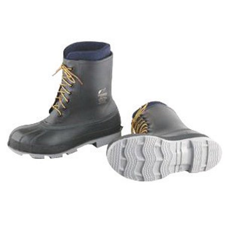 """Image of Onguard Industries Size 12 Wolf Pac Black 10"""" PVC Boots With Cleated Outsole And Steel Toe"""