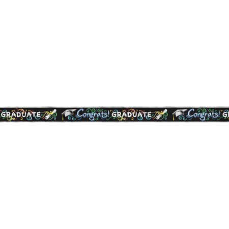 Foil Chalkboard Graduation Banner, 12 ft, 1ct](Personalized Banners For Graduation)