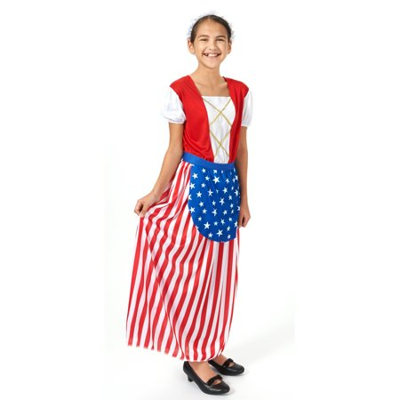 Betsy Ross Heroes In History Child Costume - Size Small - History Halloween