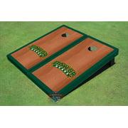 Baylor University Arch Hunter Green Rosewood Matching Borders Cornhole Boards