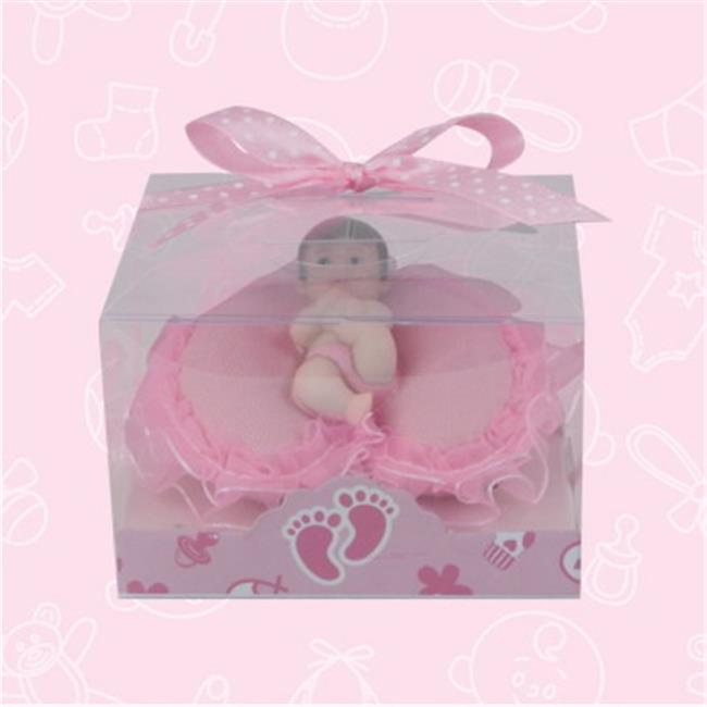 De Yi 21032W-PK Baby Shower Baby on Pillow Favors in Pink