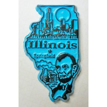 Illinois Springfield United States Fridge Magnet