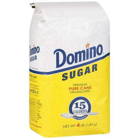 (3 Pack) Domino® Premium Sugar Cane Granulated Sugar 4 lb. Bag