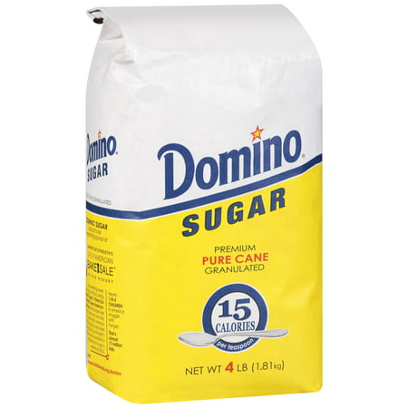 (3 Pack) Domino® Premium Sugar Cane Granulated Sugar 4 lb. Bag