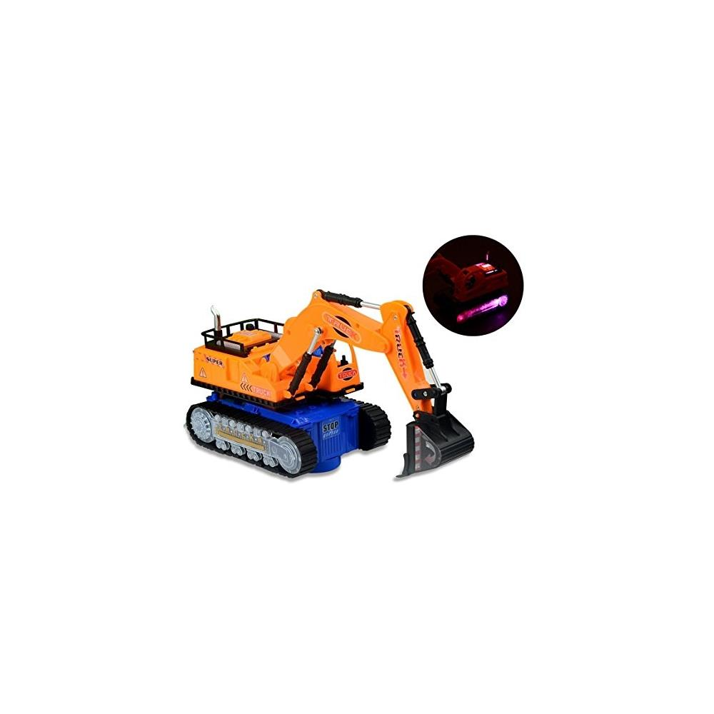 Toyze Excavator Tractor Toy, With Lights, Real Sounds And Bump And Go Action by TOYZE