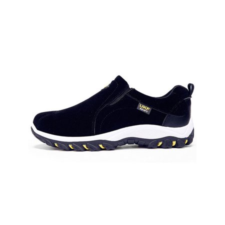 Men's Casual Round Head Stitching Hiking Slip On Sneaker Sports