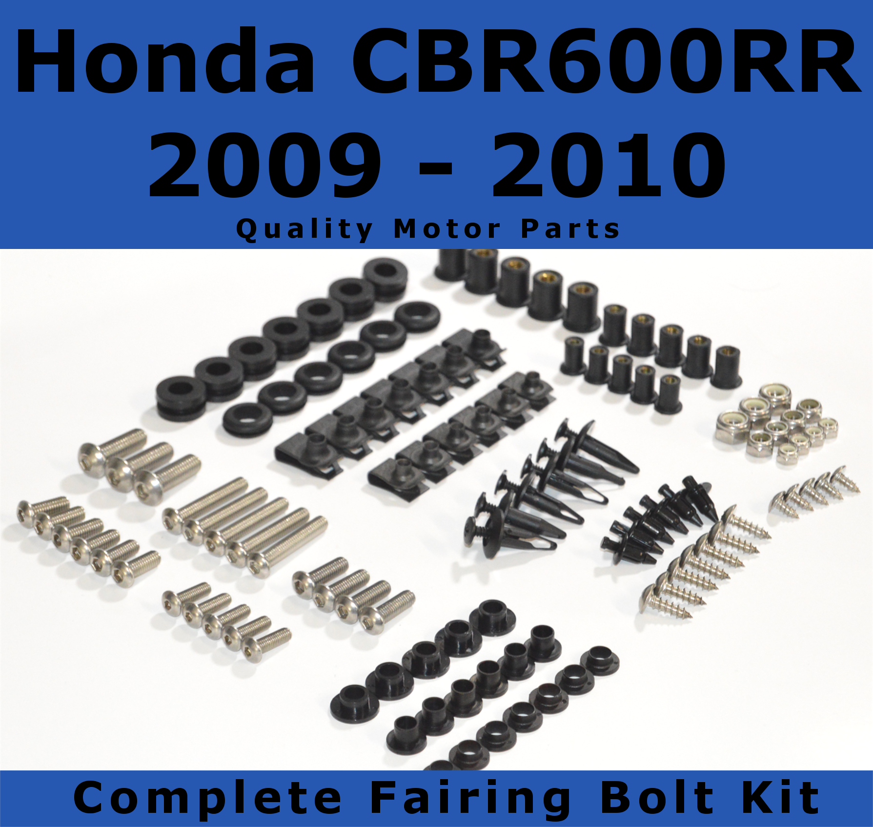 Complete Fairing Bolt Kit for Honda CBR600RR 2009 - 2010 body screws fasteners