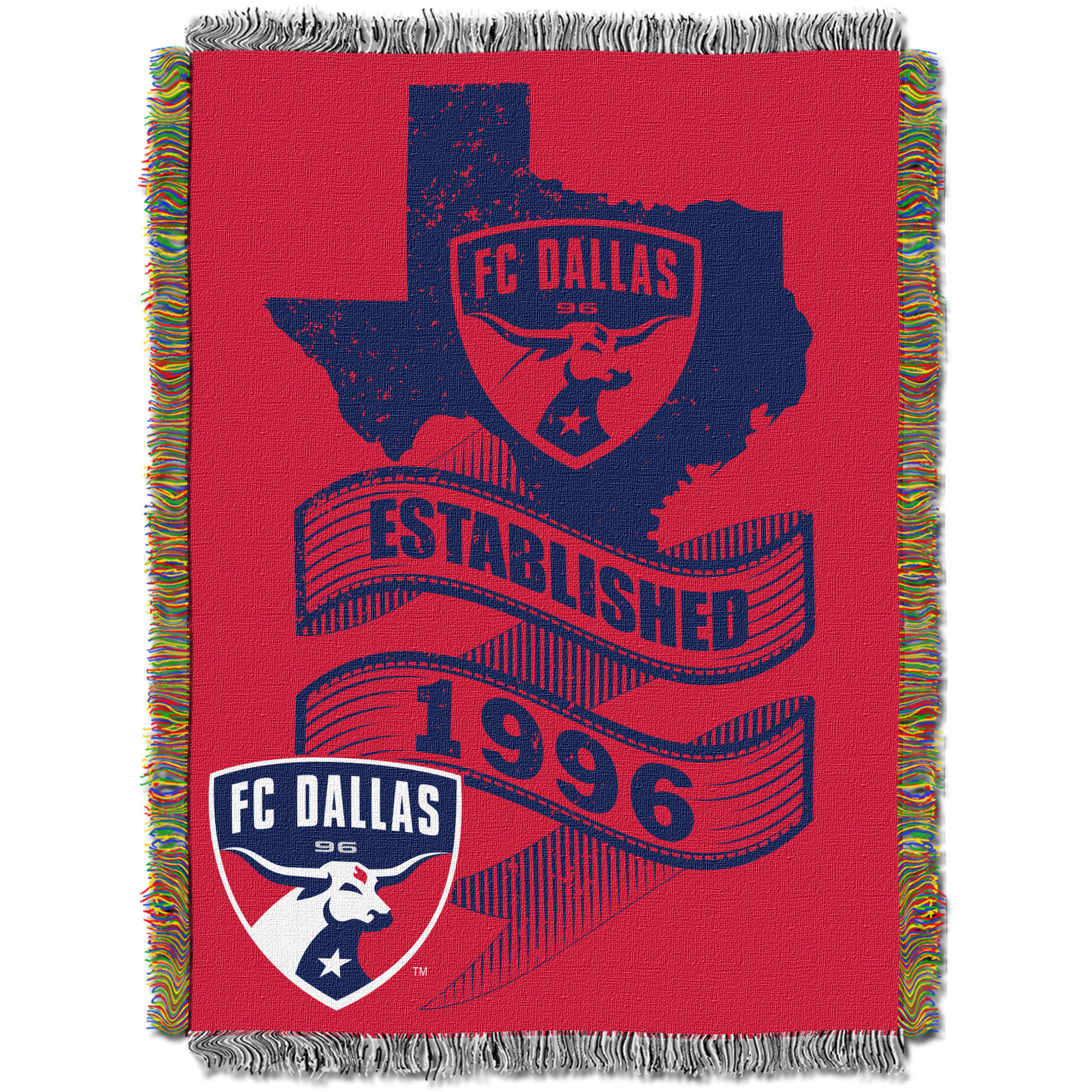 "MLS Dallas FC Handmade 48"" x 60"" Woven Tapestry Throw"