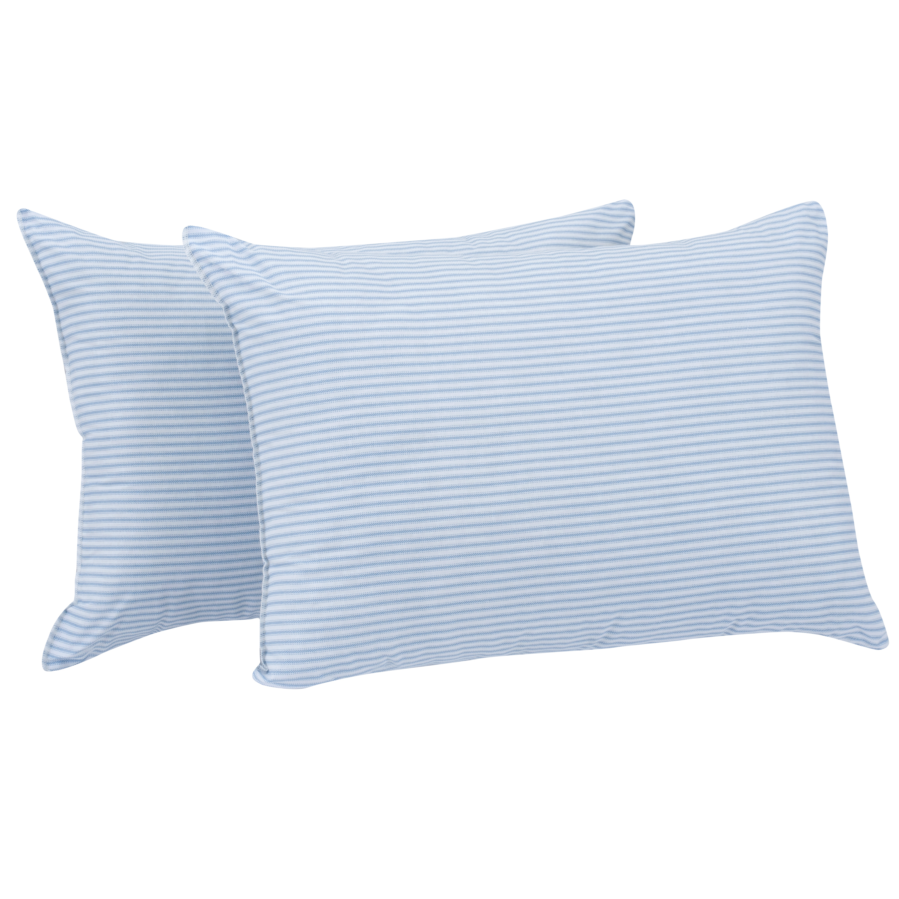 """Mainstays HUGE Pillow 20"""" x 28"""" in Blue and White Stripe Set of 2"""
