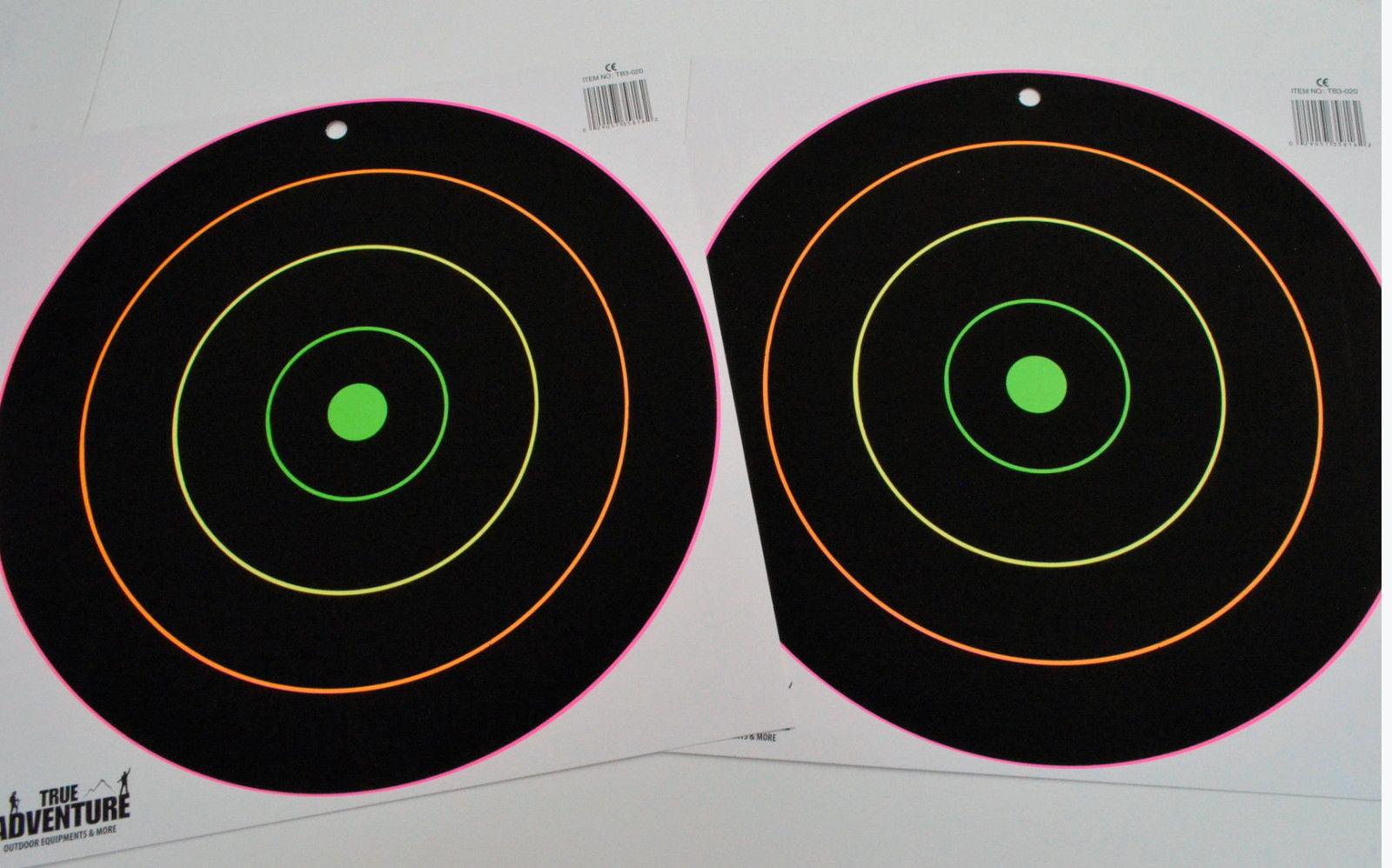 """12/"""" Shooting Target Pack Silhouette Splatter Glowshot Gun Rifle Shooting 10 Pack"""