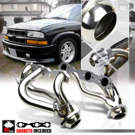 Stainless Steel Exhaust Header Manifold for 96-01 S10/Blazer/Jimmy 4.3 262 4WD 97 98 99 - Side Wheel Manifold Set