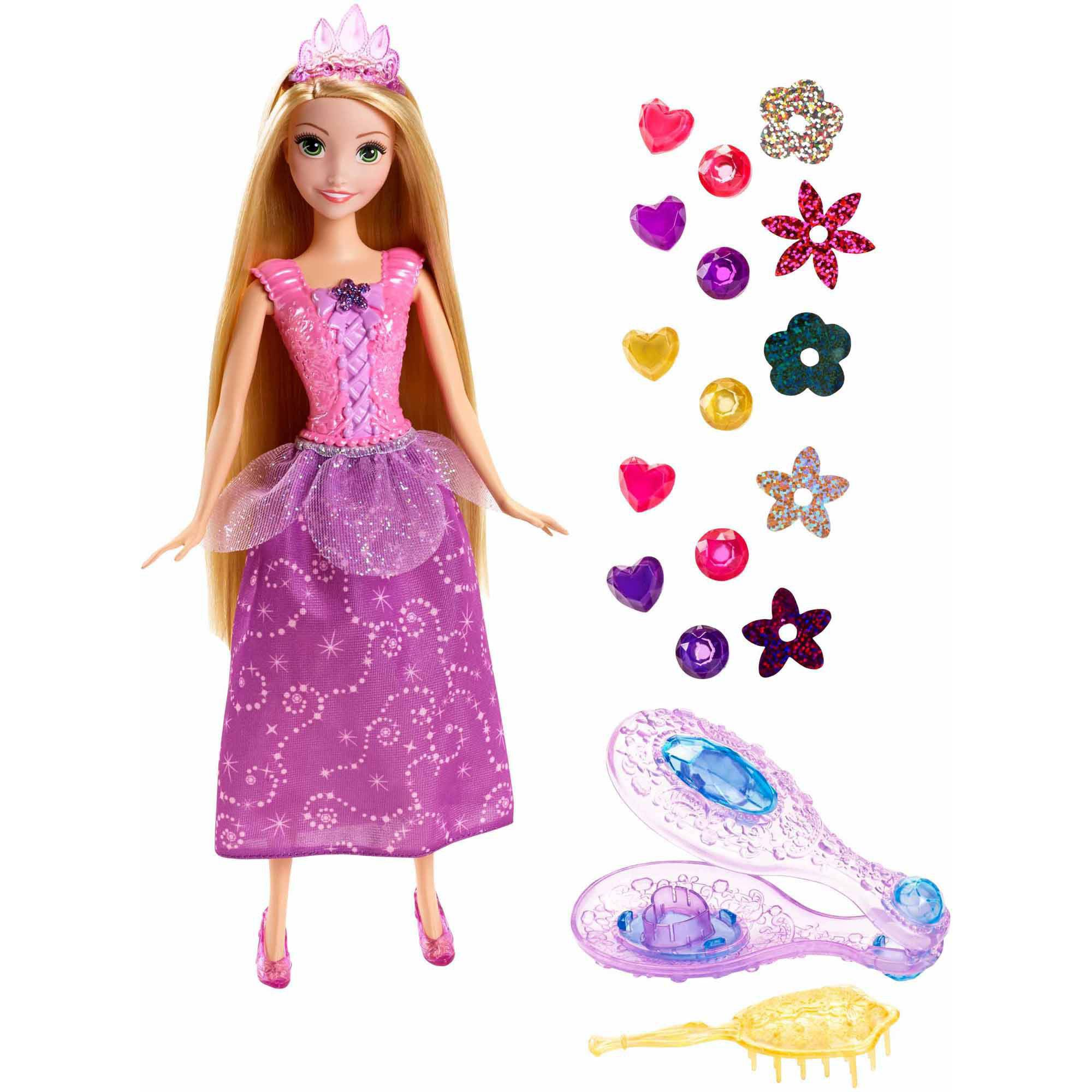 Disney Princess Gem Styler Rapunzel Doll