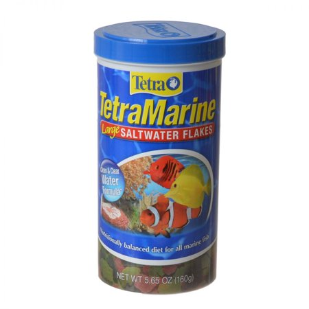 Feed Saltwater Fish (TetraMarine Saltwater Flakes 5.65 Ounces, Balanced Diet For All Marine Fish )