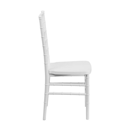Flash furniture hercules premium series white resin stacking chiavari chair - White resin stacking chairs ...