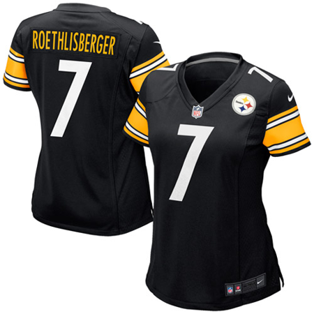 Ben Roethlisberger Authentic Jersey - Ben Roethlisberger Pittsburgh Steelers Nike Women's Game Jersey - Black