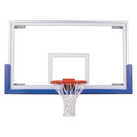 First Team FT235 Tempered Glass 42 X 72 in. Unbreakable Short Glass Backboard44; Grey