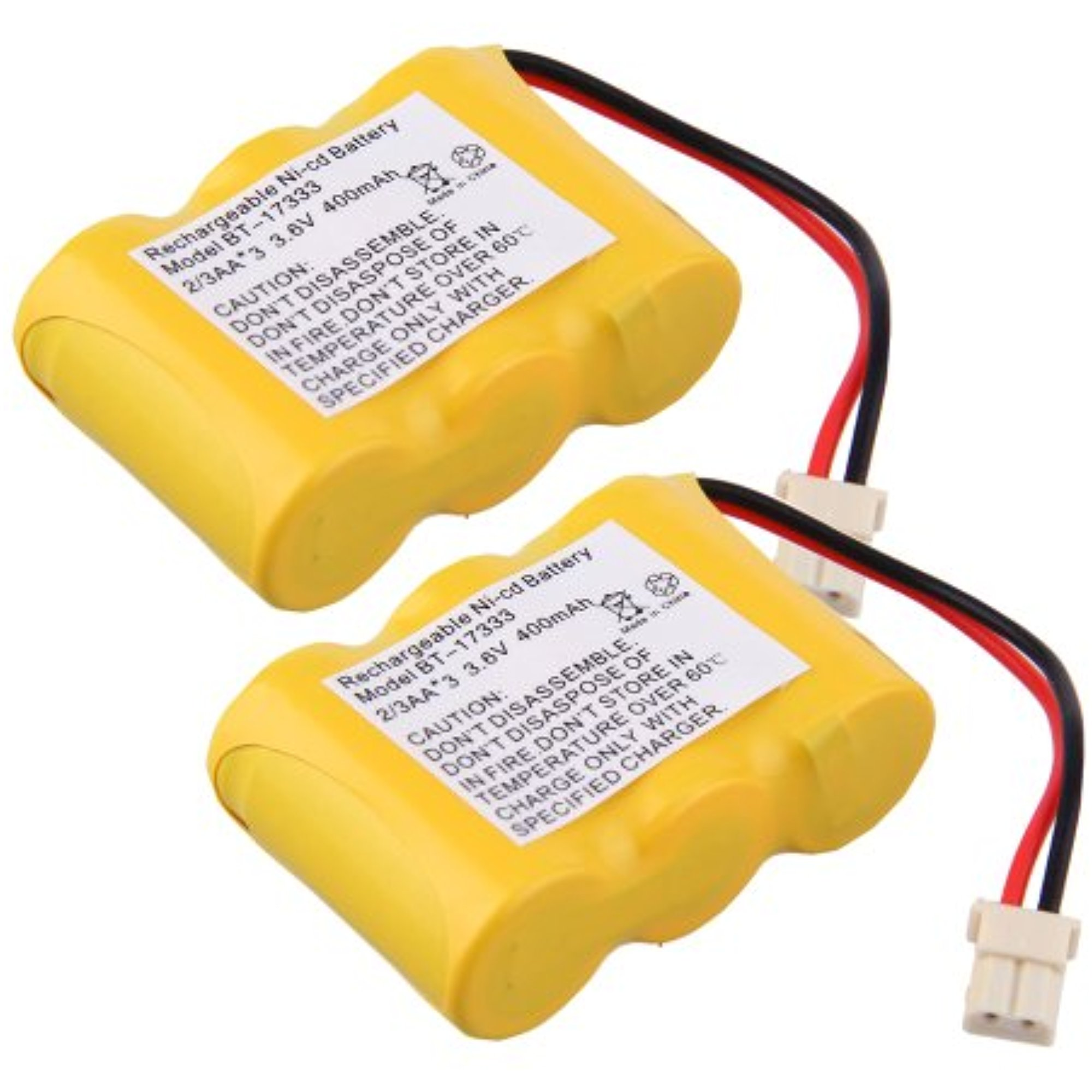 Generic 2 Pack 400mAh Cordless Phone Battery for Vtech BT-17333 CS2111, CS211